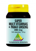 Super Multi Vitaminas + Panax Ginseng - 120 Caps