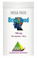 Brain Food   -  700 mg  - 750 capsules  -   MEGA PACK